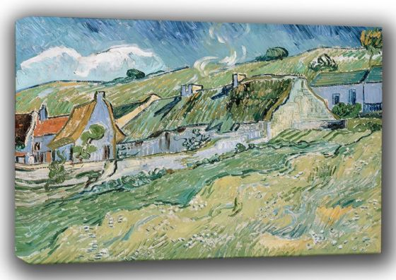 Van Gogh, Vincent: Cottages at Auvers-sur-Oise. Fine Art Canvas. Sizes: A4/A3/A2/A1 (001493)